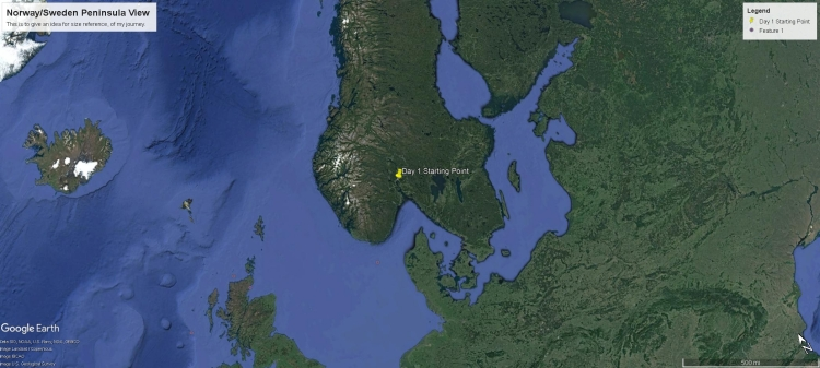norway peninsula max distance