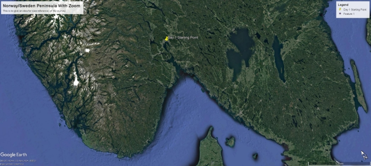 norway peninsula with zoom